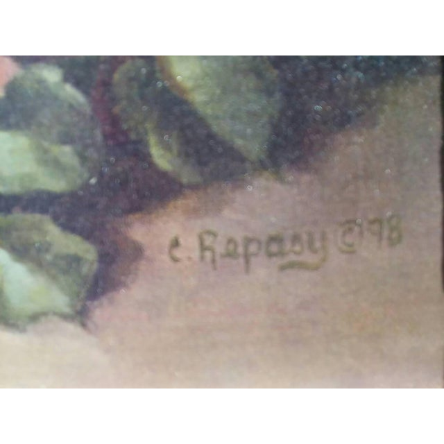 Image of Christie Repasy Wine & Pink Roses Shabby Chic Painting