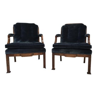 Erwin Lambeth Chinese Chippendale Style Armchairs- A Pair