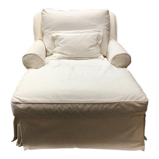 Mitchell Gold White Slip Covered Chaise