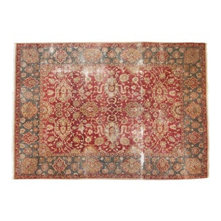 Vintage Distressed Agra Carpet - 8' x 11'3""
