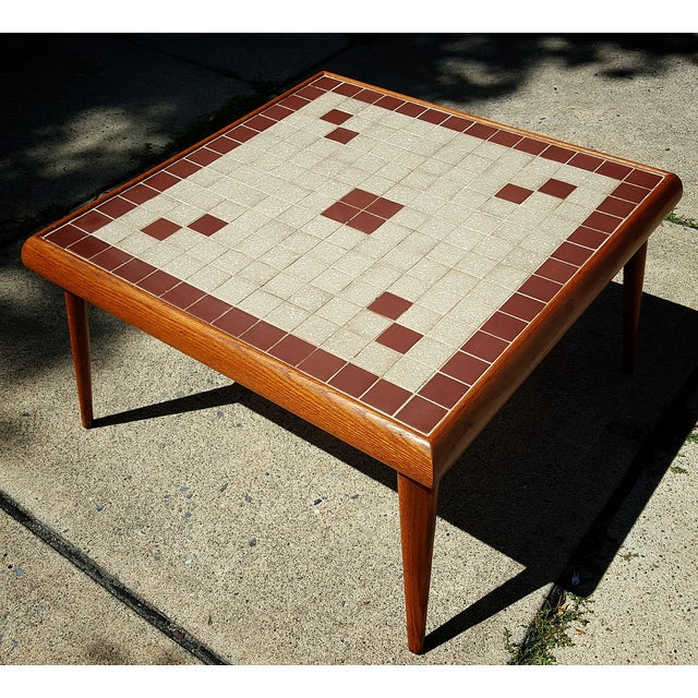 Mid-Century Modern Tile Top Corner Table - Image 5 of 5