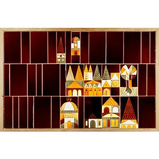"""Le Village"" Ceramic Mural by Roger Capron"