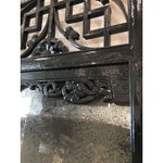 Image of Asian Black Lacquered Mirror