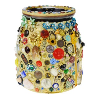 Vintage Folk Art Memory Jar