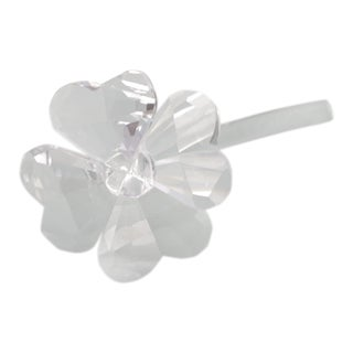 Vintage Swarovski Crystal Good Luck Flower Figurine