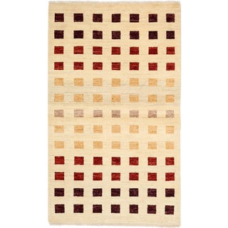 "Gabbeh Hand Knotted Area Rug - 3'1"" X 5'1"""