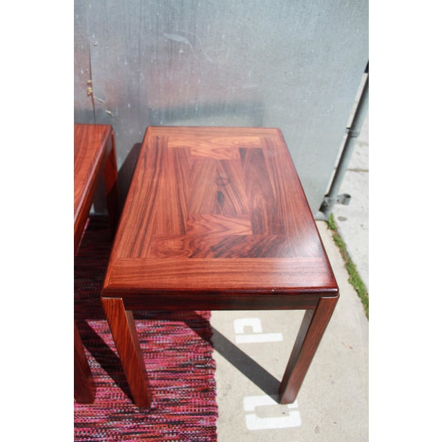 1960s Danish Rosewood Coffee & End Tables - Set of 3 - Image 5 of 10