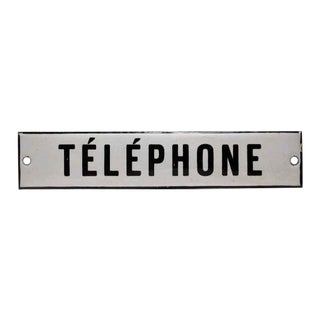 Enamel Telephone Sign