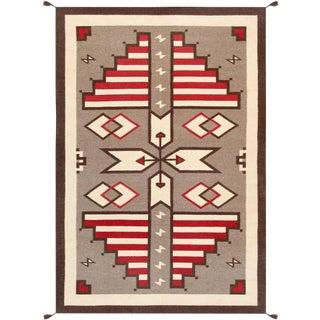 Navajo Hand-Woven Area Rug - 6' X 9'