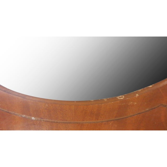 Image of Round Art Deco Bureau Top Mirror