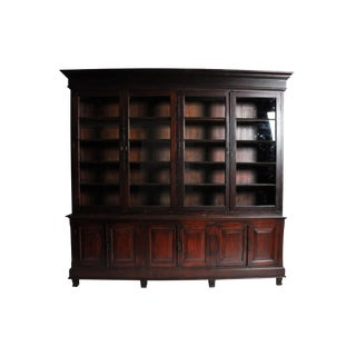 Monumental British Colonial Bookcase