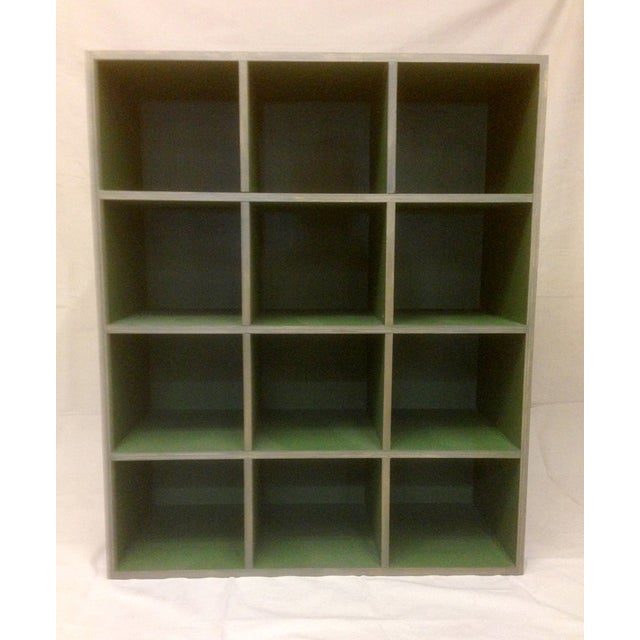Metallic and Green Cubby Shelf Unit - Image 2 of 6