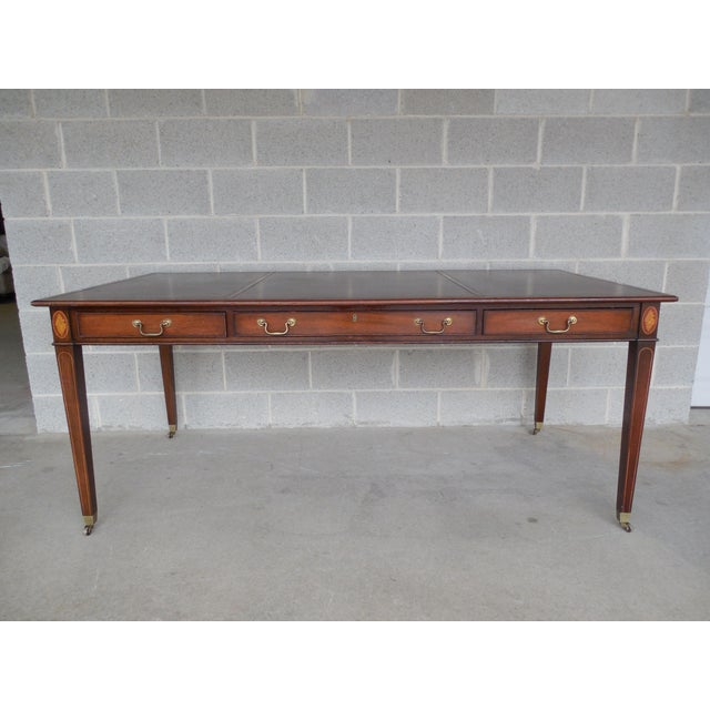 Kittinger Mahogany Federal Style Leather Desk Chairish