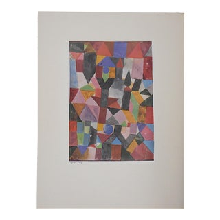 Vintage Ltd. Ed. Modernist Lithograph-Paul Klee- c.1955-Folio Size