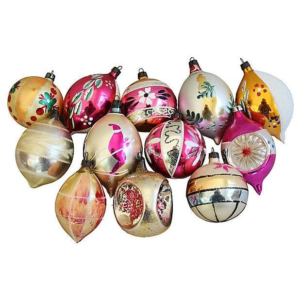 Hand Decorated European Christmas Ornaments w/Box - Set of 12 - Image 8 of 8