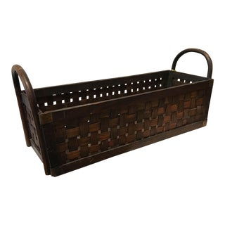 Antique Wicker & Brass Basket
