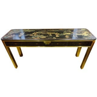 Mastercraft Style 1970s Chinoiserie Console