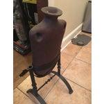 Image of Vintage Rustic Ceramic Oil Jug