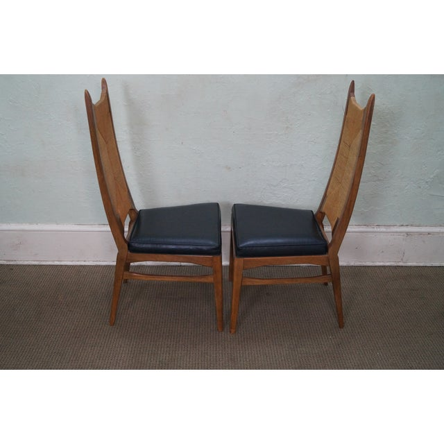 thomasville high back danish style dining chairs chairish