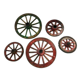 Antique Egyptian Wheels - Set of 5