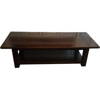 Pottery Barn Dark Wood Coffee Table