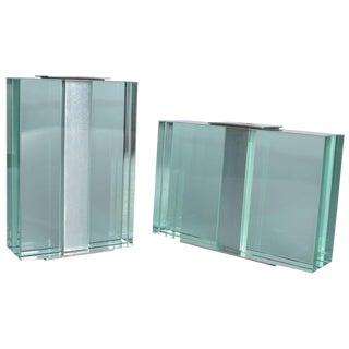 Pair of 1950s Fontana Arte Art Glass Vases