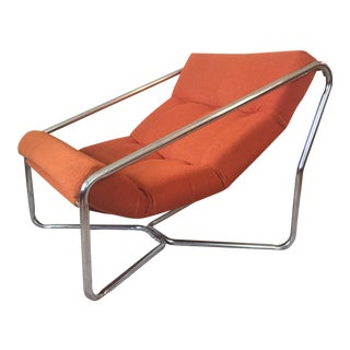 Italian Tubular Chrome Sling Chair