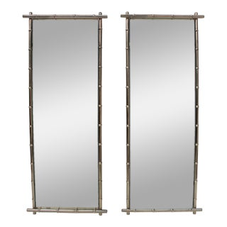 George Koch Faux Bamboo Wall Mirrors - A Pair
