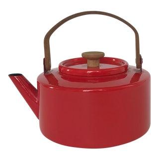 Michael Lax for Copco Red Retro Tea Pot