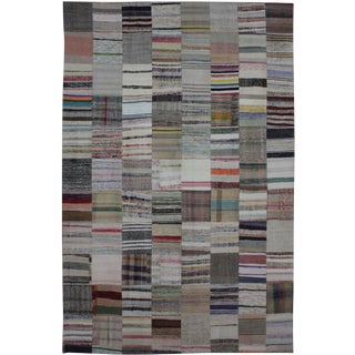 "Hand Knotted Patchwork Kilim - 11'7"" x 8'0"""