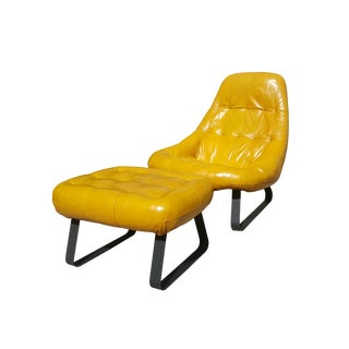 Percival Lafer Mid-Century Modern Space Age Earth Lounge Chair & Ottoman