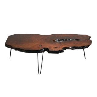 Mid-Century Modern-style Live Edge Wood Coffee Table