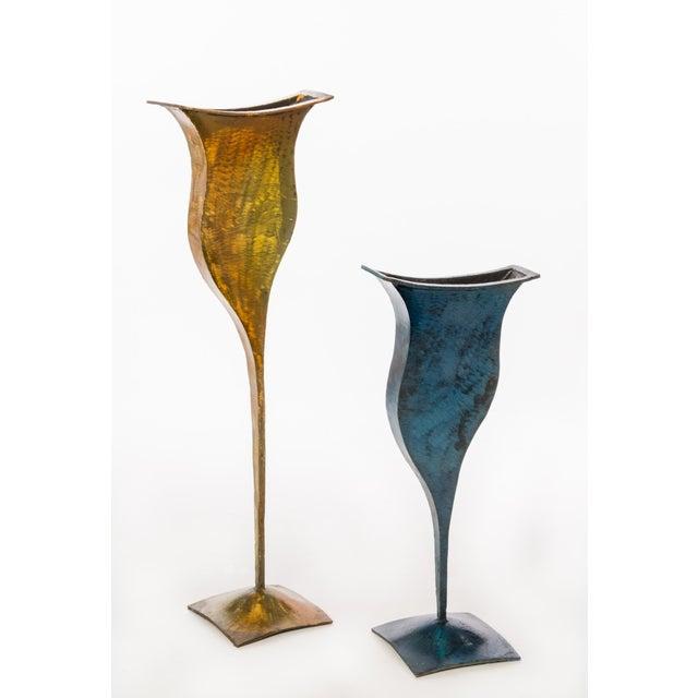 Metal Vases - Pair - Image 2 of 4