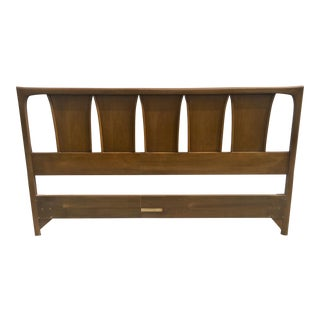 Mid-Century Wooden Queen Headboard