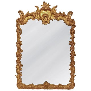 18th Century Continental Carved, Giltwood Mirror