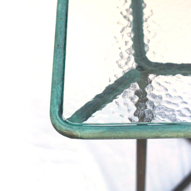 Walter Lamb Patinated Bronze Patio Table - Image 4 of 5