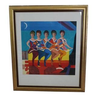 "Max Papart ""American Ballet"" Framed Hand Signed Aquatint"