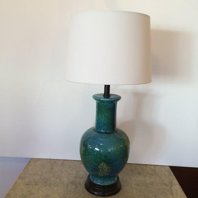 Turquoise Mid-Century Modern Vase Table Lamp - Image 2 of 5