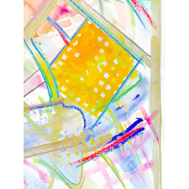 Yellow and Green Abstract Watercolor - Image 5 of 5