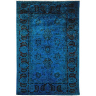 Vibrance Over Dyed Hand Knotted Area Rug - 6' X 9'