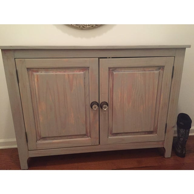 Image of Beach Wood Cabinet Console Table
