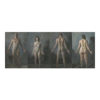 Anatomical Position Quadriptych Painting