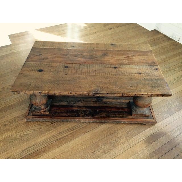 Arhaus Wooden Coffee Table - Image 2 of 9