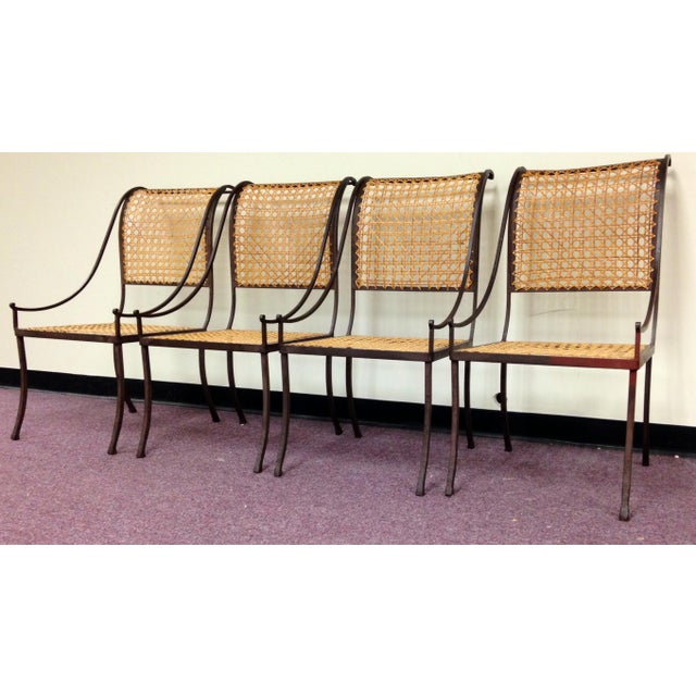 John Vesey Mid-Century Cane Back Chairs - Set of 4 - Image 3 of 10