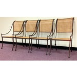 Image of John Vesey Mid-Century Cane Back Chairs - Set of 4