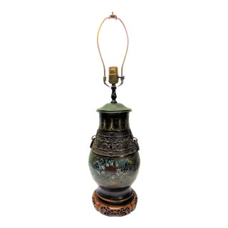 Antique Chinese Cloisonne Table Lamp