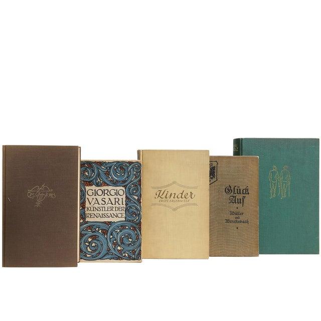 Image of Vintage Earthtone German Books - Set of 50