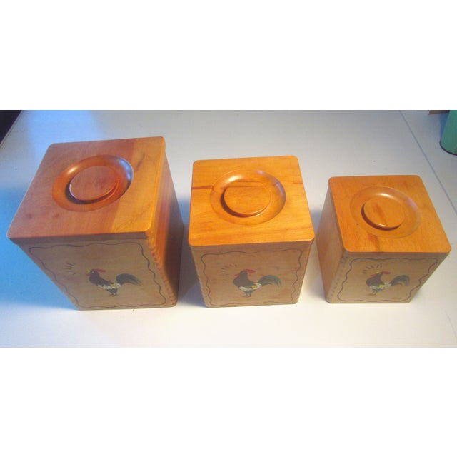 Vintage Mid-Century Kitchen Canisters - Image 3 of 5