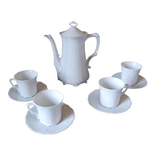 China Coffee Pot & Demitasse by Hutschenreuther - Set of 4