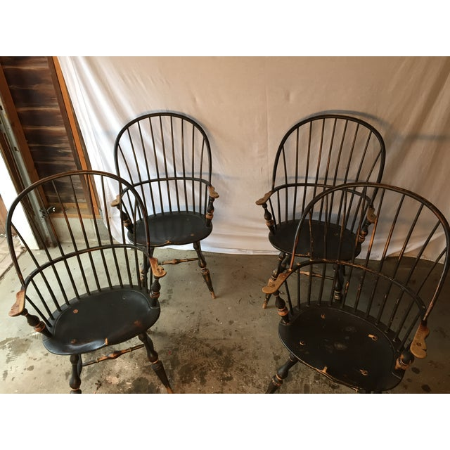 Image of D.R. Dimes Windsor Dining Chairs - Set of 4